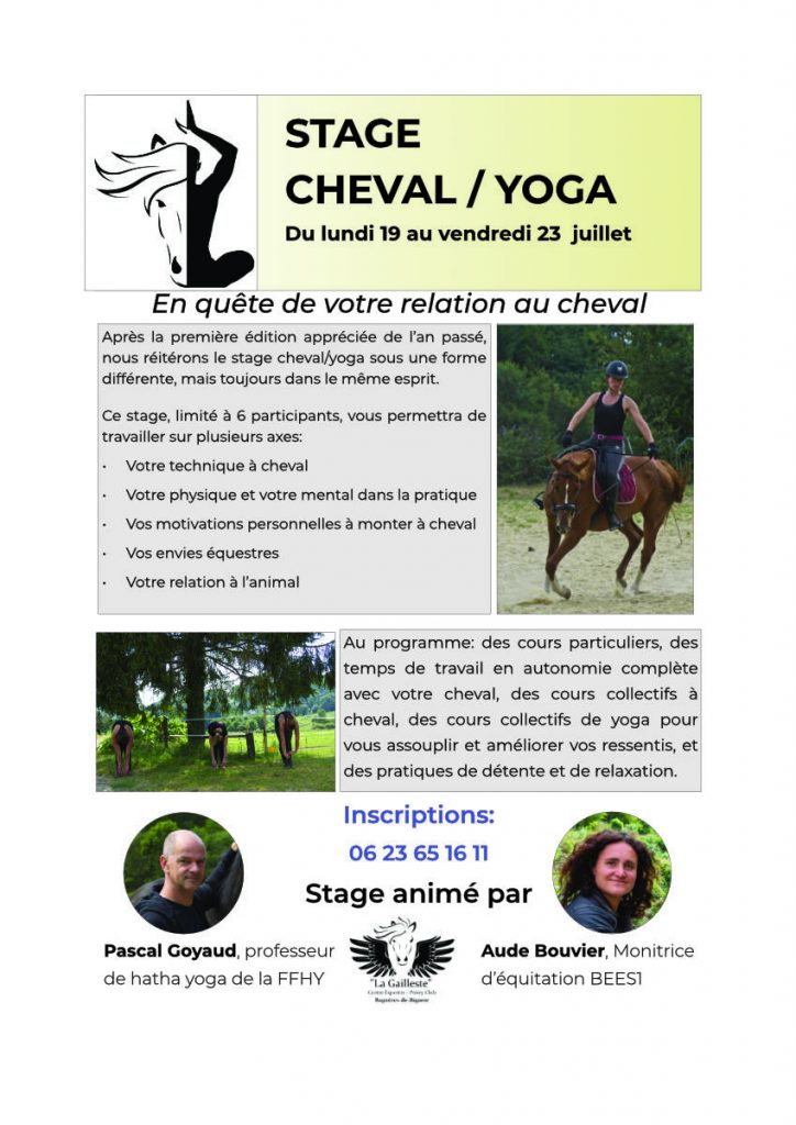 Stage Cheval - yoga 2021